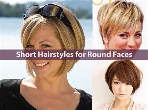 short haircut for round face hair and model 50 hairstyles