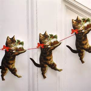 Christmas Decoration Sleigh Christmas Cat Garland Pipii