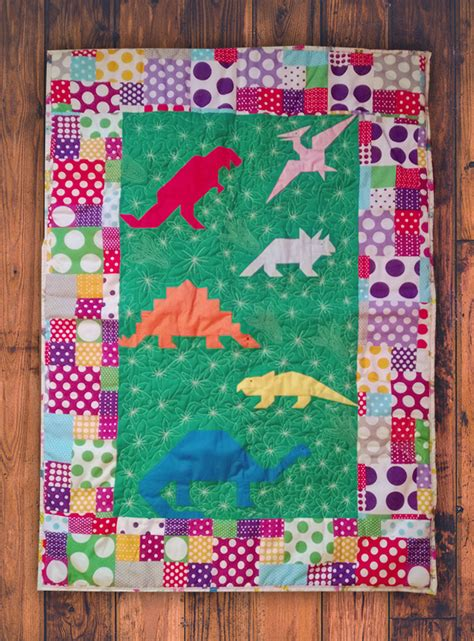 Dinosaur Quilt Patterns For Free by Image Gallery Dinosaur Quilt