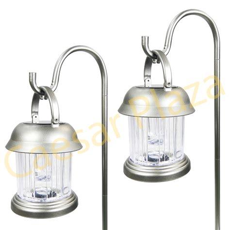 Solar Lights Hanging Lanterns 6 Outdoor Brass Copper Color 2 Led Solar Hanging