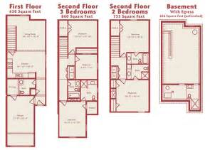 Three Bedroom Townhouse Floor Plans Townhouse Floor Plans 2 3 Bedroom Townhome Floor