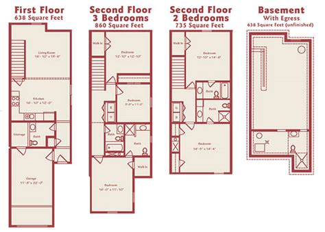 modern townhomes floor plans find house plans