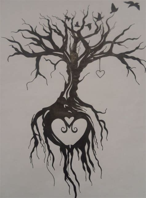 tree with roots tattoo tree of by emmybunny deviantart on