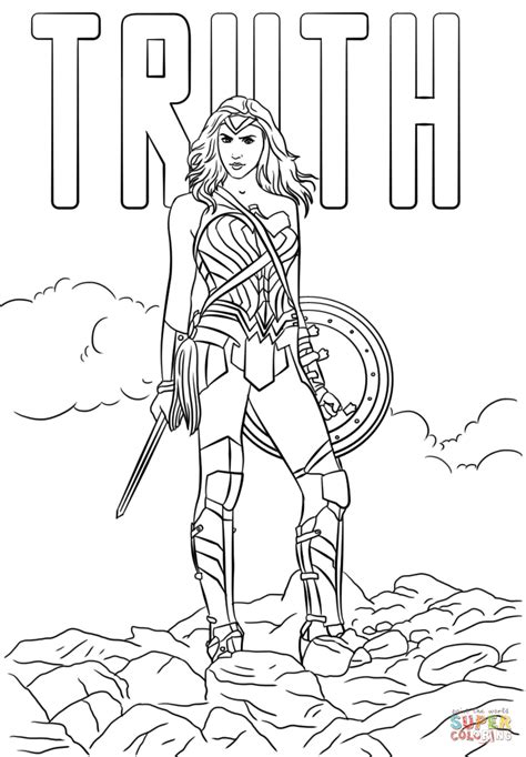 printable coloring pages wonder woman wonder woman truth coloring page free printable coloring