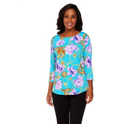 susan graver liquid knit susan graver liquid knit printed front solid back top