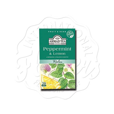 Ahmad Tea Of Peppermint Lemon Ahmad Peppermint Lemon 20 S Flavers International