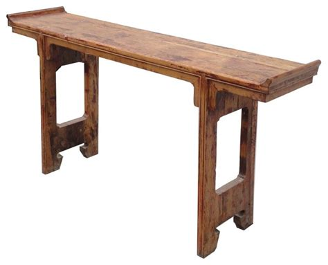 Narrow Table by Narrow Rustic Wood Altar Console Table