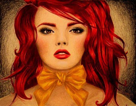 red hair mermaid color pencil drawing kim rose s art