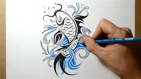 tribal fish tattoos how to draw a koi fish design