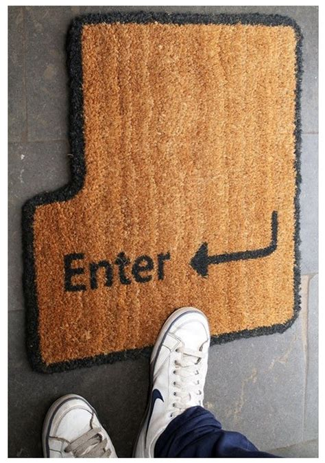Enter Key Doormat enter key doormat back doors stuff welcome mats front doors doors mats the offices