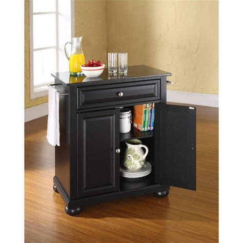 kitchen island marble top home source furniture crosley furniture alexandria solid black granite top
