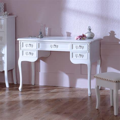 Antique White Ornate Dressing Table Desk Shabby French White Vintage Desks