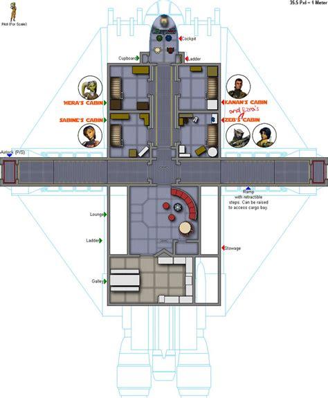 star wars floor plans the ghost deck 2 sl star wars rebels fan art 37975268 fanpop