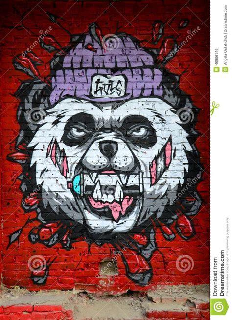 Music Wall Mural vicious panda graffiti editorial photo image 46806146