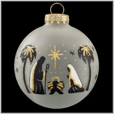 holy family black silhouette ornament religious