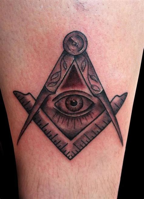 tattoo eye mason 56 mind blowing masonic tattoos