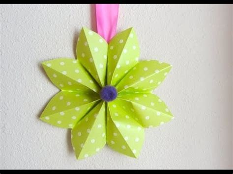 Origami Paper Decorations - how to fold a origami paper flower decoration for a tnd
