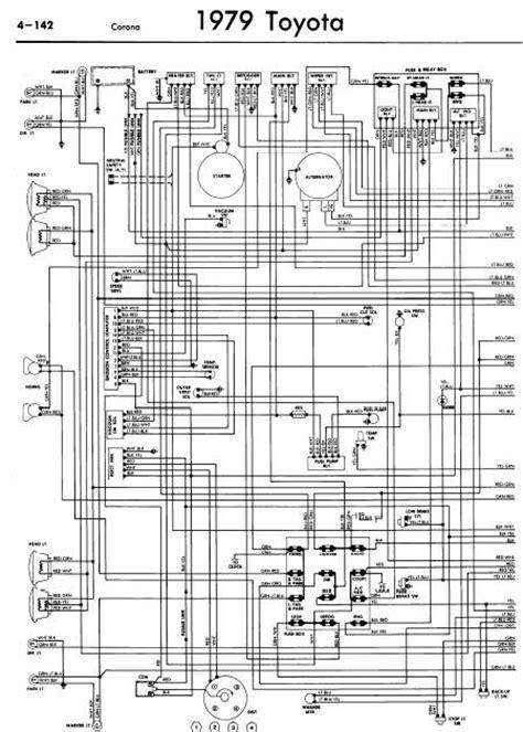 repair manuals toyota corona 1979 wiring diagrams