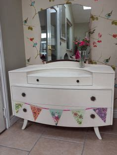 Upcycled Vanity Table Upcycled 1950 S Dressing Table Handpainted Unique Diy Projects Pinterest Dressing