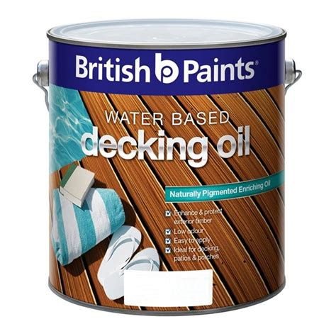 british paints decking oil water based  natural