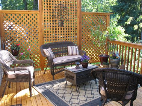 How To Create Privacy On A Patio by Deck Privacy Panels Deck Ideas