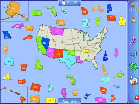 map usa puzzles free app shopper united states puzzle map education
