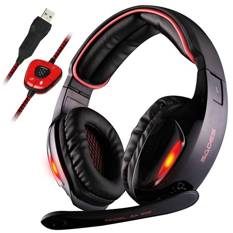 Headset Gaming Sades A9 highly surround sound gaming headset on sale lightning deal le chic