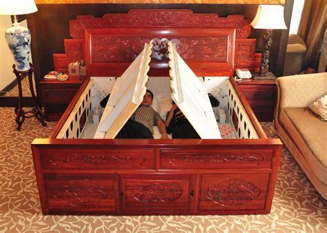 earthquake bed mahogany bed intelligence anti earthquake bed liyang