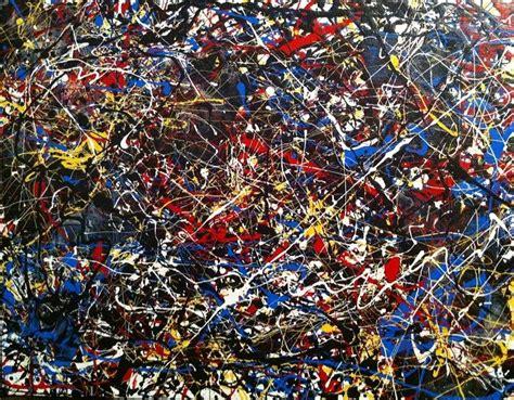 imagenes abstractas de jackson pollock untitled 5 jackson pollock inspired painting by vanessa