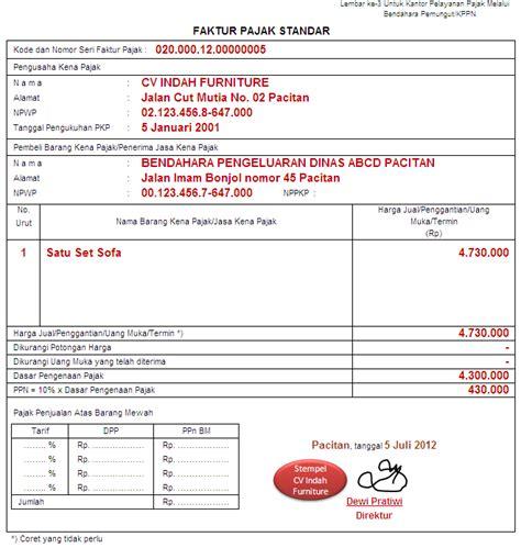 tanggal pembuatan faktur pajak ppn contoh pembuatan faktur pajak adalah sebagai berikut