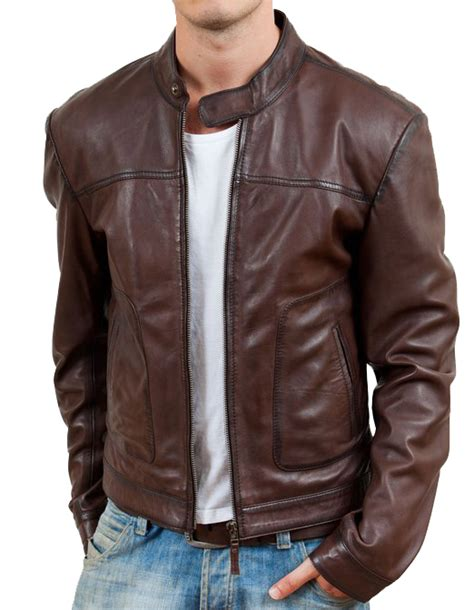 Jaket Kulit Flip Jacket By Classic leather designer jacket for in brownish color mens