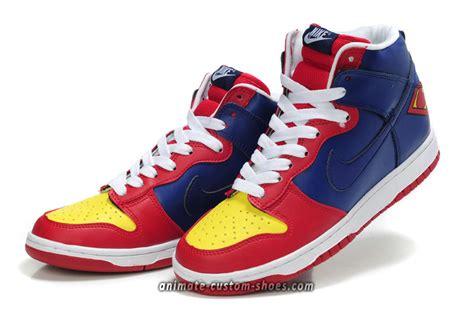 superman shoes animate custom shoes superman nike shoes custom high tops