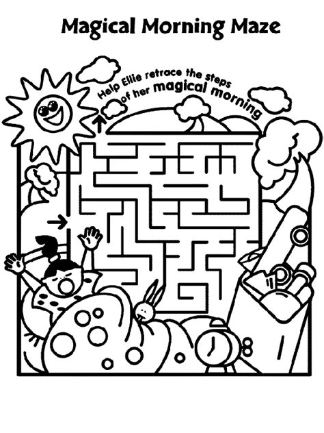 coloring pages morning magical morning maze crayola co uk