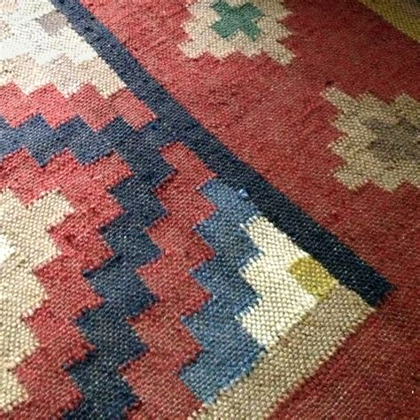 Wool And Jute Terracotta Kilim Rug Runner By Hunter Rug Uk