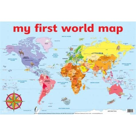 world map labeled cities my world map wall chart