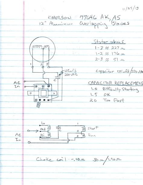 emerson electric fan type 77646 as wiring diagram electric