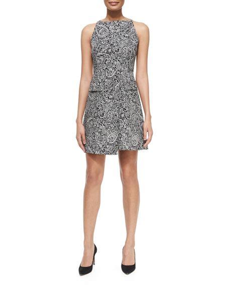 Dress Doodle burch paisley doodle sheath dress black white