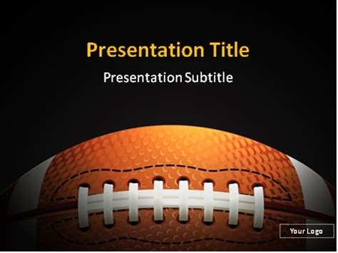 Download Free American Football Powerpoint Template Powerpoint Football Template