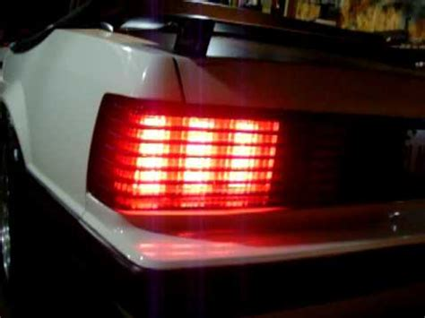 fox body led tail lights led sequential tail lights mustang youtube
