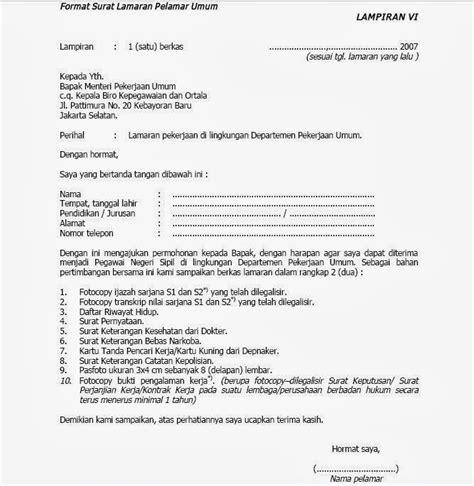 Contoh Surat Lamaran Kerja Cpns 2017 by Contoh Surat Lamaran Kerja Cpns 2018 Kata Kata Gokil