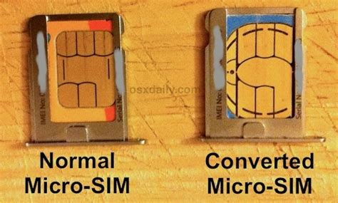 make a micro sim card convert a sim card to micro sim by cutting with scissors