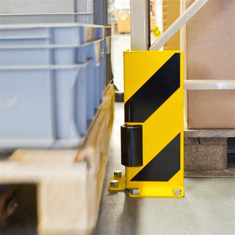 warehouse rack protectors traffic line upright protectors for pallet racking shelving
