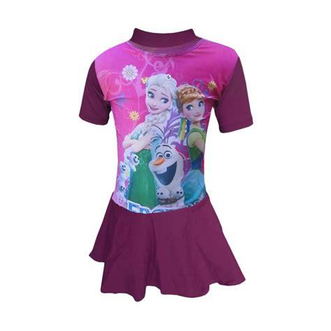 Hem Anak 3 7 Thn jual rainy collections karakter frozen baju renang anak ungu 3 7 thn harga