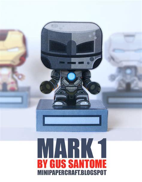 Iron Mini 01 Mk 6 1 Marvel Universe Iron Mk I V2 Mini Depapercraftblog