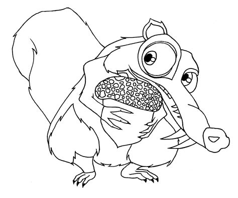 ice age coloring pages pdf squirrel coloring pages coloring for kids pinterest
