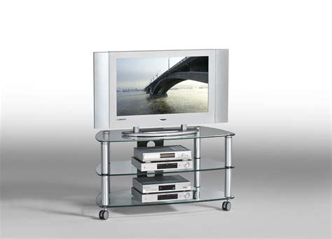table tele en verre meuble tv contemporain m 233 tal et verre coloris aluminium kittie meubles tv hifi vid 233 o soldes