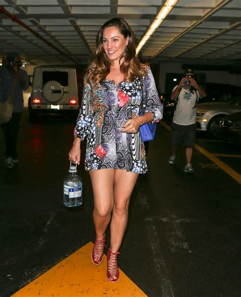 kelly brook shows off her kelly brook shows off her legs leaving a nail salon in