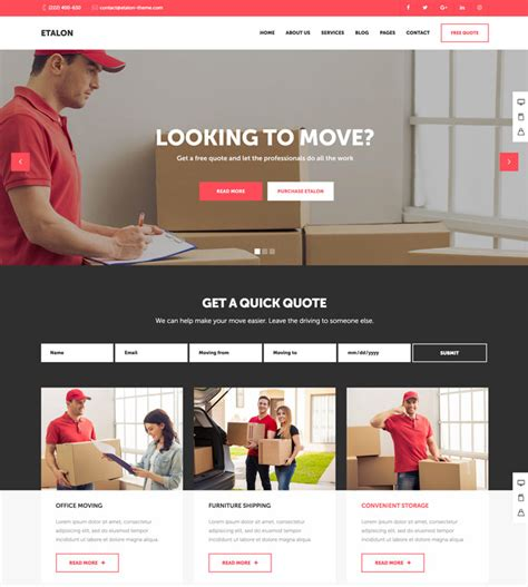 free wordpress themes quotes 15 best transportation and logistics wordpress themes for