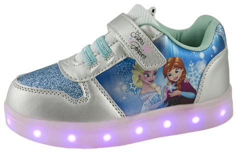 ebay light up shoes disney frozen led light up trainers usb girls anne elsa