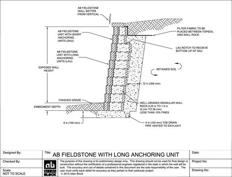 layout anchor gravity four types of concrete retaining walls the concrete